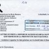 lettre au gouverneur